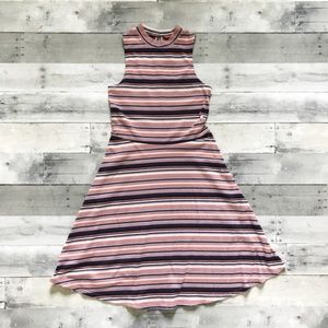 Xhilaration Striped Mock-Neck Dress